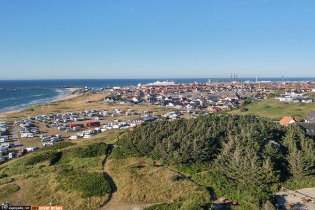 Hirtshals widok z latarnii morskiej