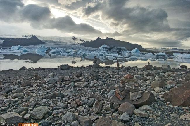 Lodowiec i jezioro Fjallsárlón
