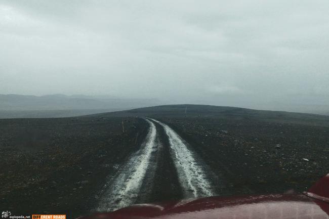 Droga F910 - pogoda nas nie rozpieszcza