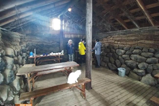 Jadalnia i kuchnia na kempingu Möðrudalur