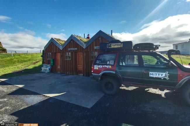Stacja benzynowa na kempingu Möðrudalur