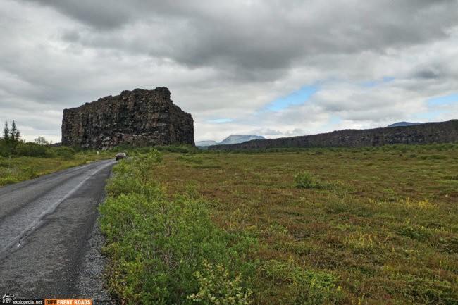 Eyjan - 25 metrowa część kanionu przy wjeździe