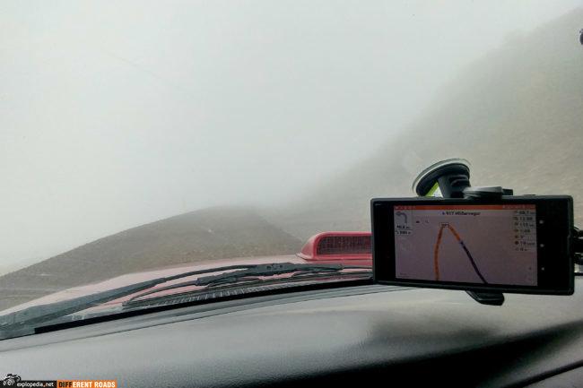 Trasa 917 w okolicah szczytu Seldalsfjall