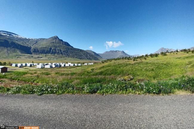 Poranek na kempingu Reyðarfjörður