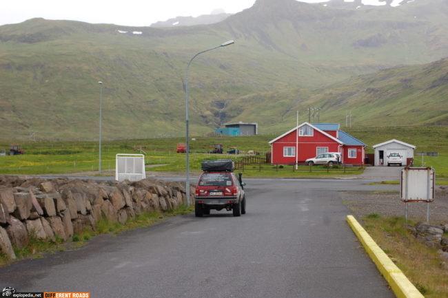 Port Grundarfjörður - scena z wyścigiem do roweru