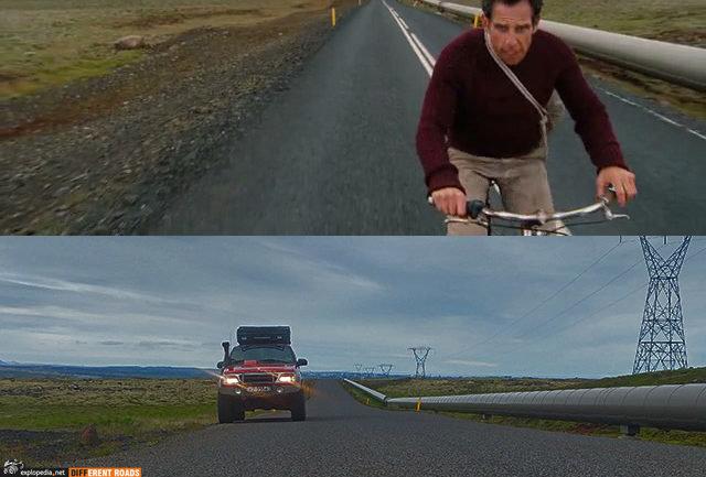 Walter Mitty bike scene