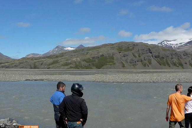 Rzeka Skyndidalsá - nurt był za głęboki i zbyt silny